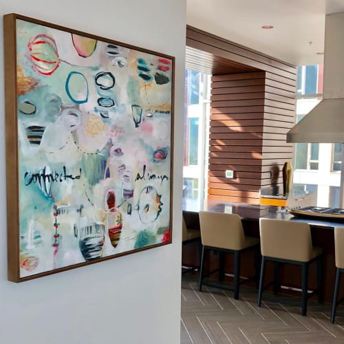 Paintings by Flora Bowley seen at Private Residence, Portland - Abstract Painting