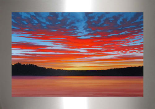 Paintings by MAI WYN FINE ART at Private Residence, Denver - Last Sunset at the Lake
