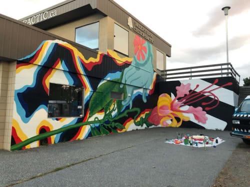 Murals by Uptown Murals seen at Valley View Chiropractic & Massage, Kelowna - Mural