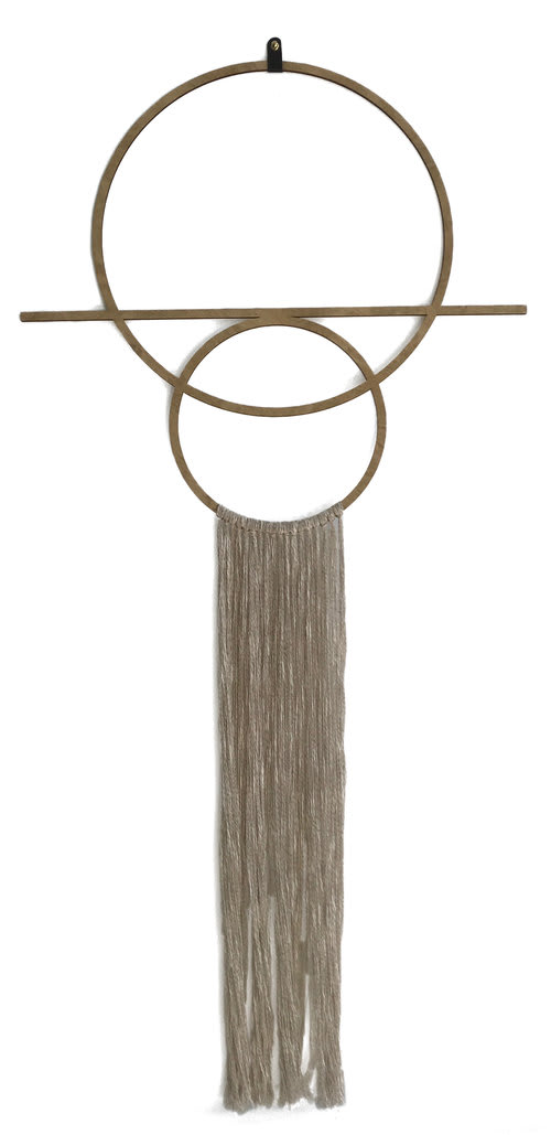 Macrame Wall Hanging by Wanderluxe seen at Private Residence, Bend - Dawn Wall Hanging
