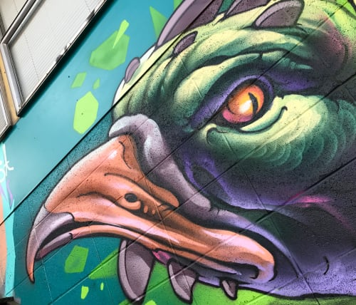 Street Murals by Bruno Smoky at Milkcrate Records, Kelowna - Freestyle