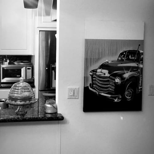 Paintings by E. Trent Thompson seen at Private Residence, Danville - Car Painting