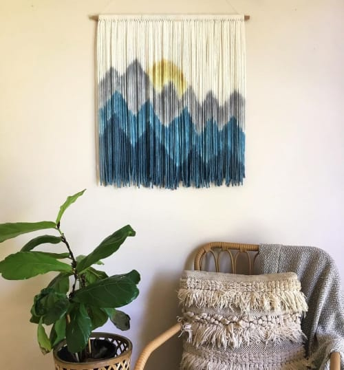 Macrame Wall Hanging by Wallflowers Hanging Art seen at New York, New York, New York - Teal Sierra Sunset