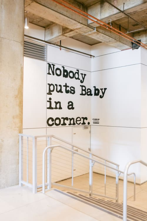 Street Murals by WRDSMTH seen at The BLOC,  DTLA, Los Angeles - Baby