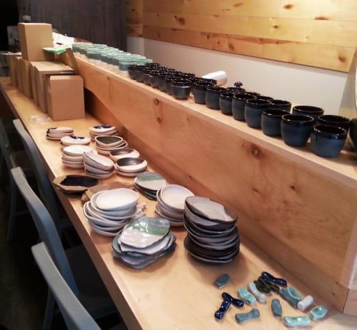 Tableware by Helen Levi seen at New York Sushi Ko, New York - Bespoke Handmade Tablewares