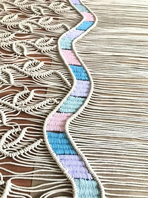 Macrame Wall Hanging by YASHI DESIGNS - Unique Macrame Wall Hanging- PASTEL