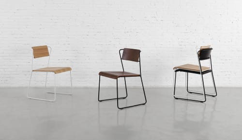 Chairs by m.a.d. furniture design at Pinkie Cafe, Ivanhoe - Transit Chairs