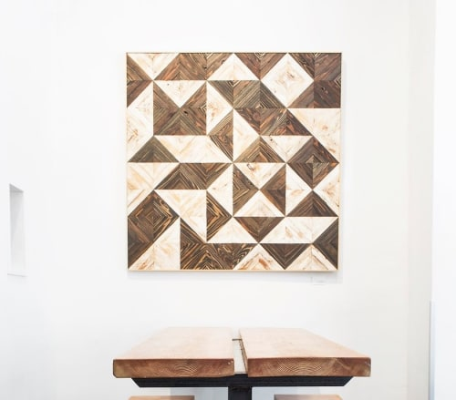 Wall Hangings by Nicole Sweeney seen at Homage SF, San Francisco - Black and White Quilted