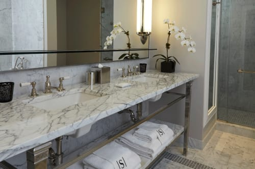 Water Fixtures by Waterworks seen at The Surrey, New York - Highgate Lever Handle Bathroom Faucet