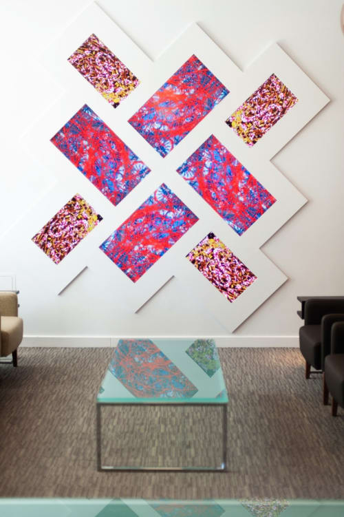 Paintings by Brian Eno seen at The Montefiore Hospital - 77 Million Paintings at The Montefiore Hospital