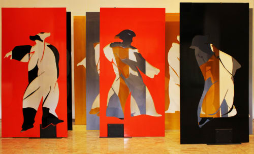 Paintings by Benedicto Reyes Cabrera (BenCab) seen at Solaire Resort & Casino, Parañaque - Tres Marias
