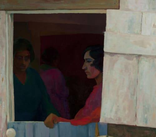 Paintings by Albert Barrows seen at Mills College Art Museum, Oakland - DOORWAY