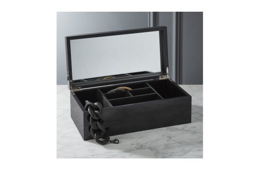 Tableware by Namavari at CB2, Berkeley - Coins Black and Gold Jewelry Box