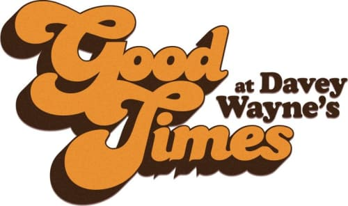 Signage by Manufactur seen at Good Times at Davey Wayne's, Los Angeles - Official Logo