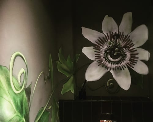 Murals by Claire Homewood seen at Janse & Co, Cape Town - Flowers