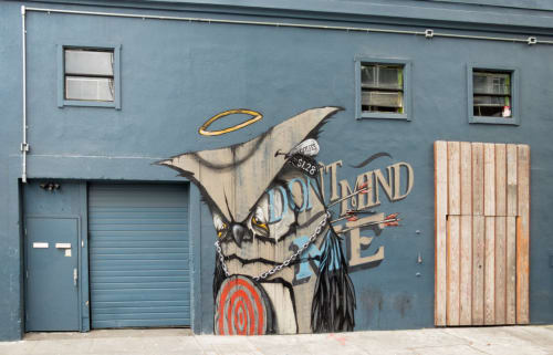 Murals by Mr. Never Satisfied seen at Oddjob, San Francisco - Don't Mind Me