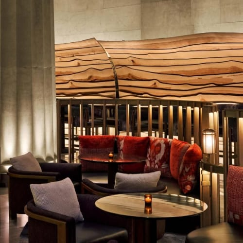 Linens & Bedding by Isabella Amstrup seen at Nobu Downtown, New York - Seating Fabric