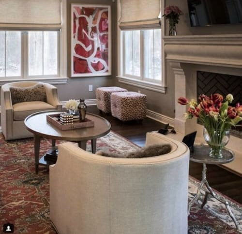 Paintings by Mary Elizabeth Peterson at Private Residence, Charlotte - Crimson Interval 2