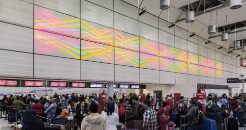 Paintings by Jay Shinn seen at George Bush Intercontinental Airport, Houston - Celestial Candyland