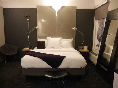 Lighting by Artemide seen at Hotel Diva, San Francisco - Tolomeo Wall Mount Lamp