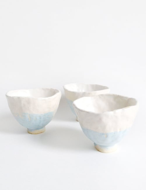 Cups by Akiko's Pottery seen at Tekuno, San Francisco - Ceramic Bowls and Cups