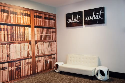 """Paintings by Lucky Rapp seen at W San Francisco, San Francisco - """"what if, what ever"""""""