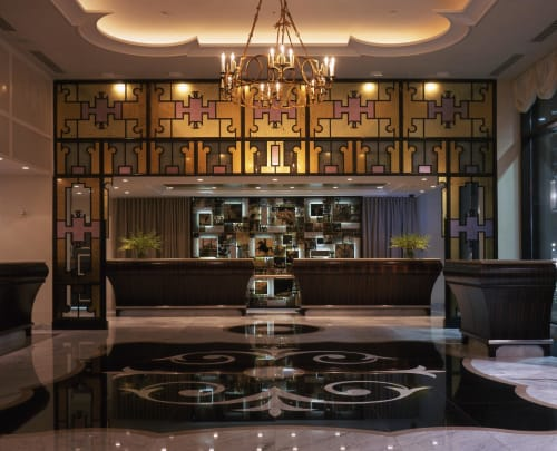 Murals by Coral Bourgeois seen at Loews New Orleans Hotel, New Orleans - The Loews Hotel Mural