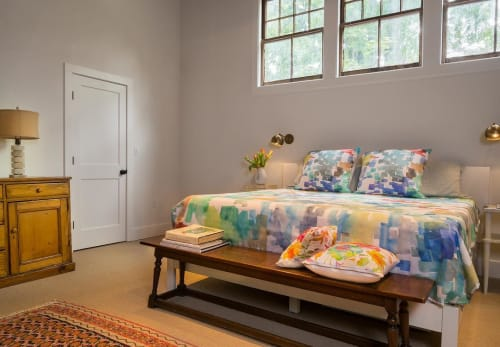 Linens & Bedding by Betsy Olmsted seen at Private Residence - Custom Bedding Design