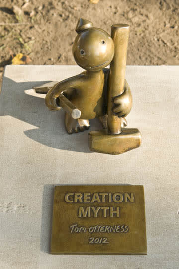 Sculptures by Tom Otterness seen at Memorial Art Gallery, Rochester, NY, Rochester - Creation Myth