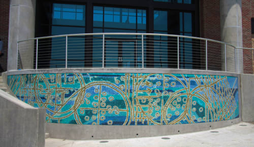 Public Mosaics by Julie Lazarus seen at Westside Water Treatment Plant for City of Fort Worth, Aledo - Mosaika