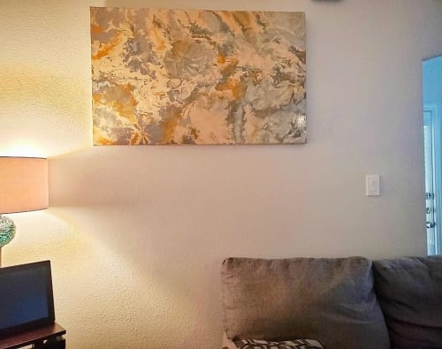 Paintings by Soulscape Art seen at Private Residence, Dallas - Merkaba