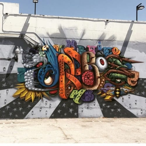 Murals by Steven Daily Studios seen at The Container Yard, Los Angeles - Mural
