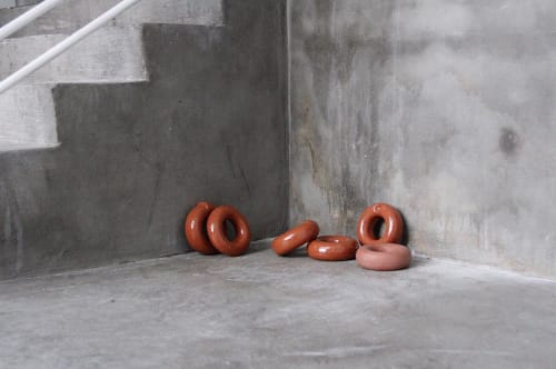 Art & Wall Decor by Eny Lee Parker seen at Private Residence, Savannah - Terracotta Donut