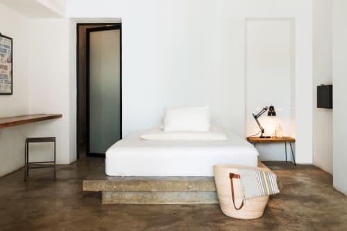Beds & Accessories by Stu Waddell seen at Drift San Jose, San José del Cabo - Concrete Bed Base
