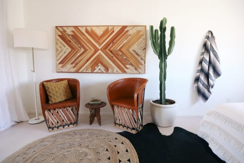 Wall Hangings by Aleksandra Zee at The Joshua Tree Casita, Joshua Tree - Geometric Wood Artwork