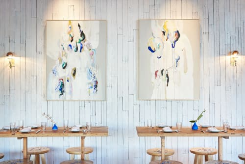 Paintings by Diana Greenberg seen at Café No Sé, South Congress Hotel, Austin - Painting