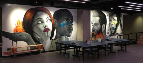 Murals by Max Sansing seen at SPiN Chicago, Chicago - Mural