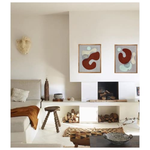 Paintings by Ayse Sirin Budak seen at Private Residence, New York - RAW Series