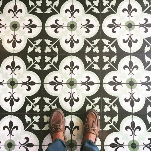 Tiles By Avente Tile At The Coronet Tucson Fleur De Lis Clover