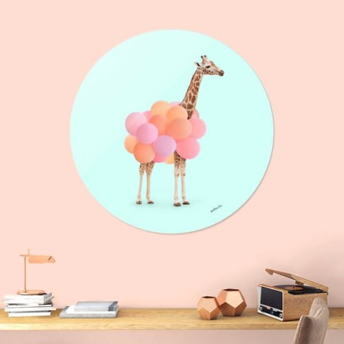 Wall Hangings by Paul Fuentes Design seen at Private Residence, New York - Giraffe Party