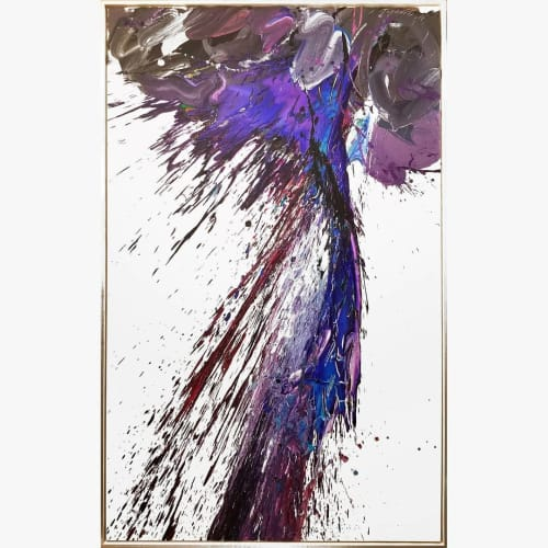 Paintings by Peter Triantos seen at Chateau Le Jardin Event Venue, Vaughan - Storm #8