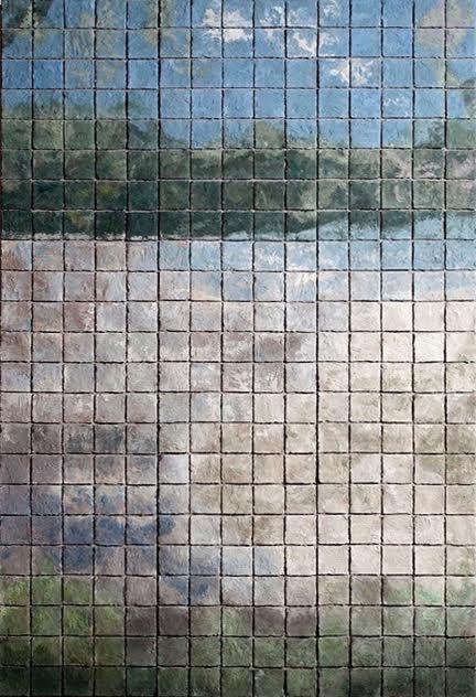 Public Mosaics by Elizabeth MacDonald seen at Emerson Resort & Spa, Mount Tremper - River