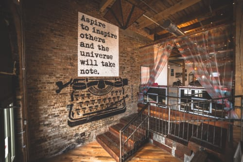 Murals by WRDSMTH seen at Lacuna Lofts Chicago Illinois, Chicago - Aspire To Inspire
