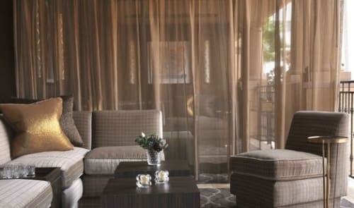 Curtains & Drapes by Plush Home by Nina Petronzio seen at £10 (Ten Pound Bar), Beverly Hills - Sheer Drapery