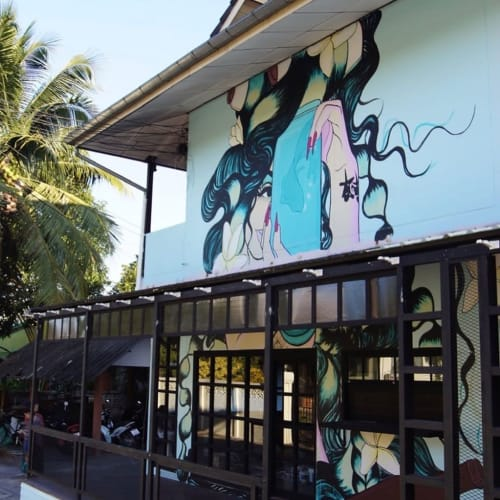 Murals by Juzpop Creations seen at Chiang Rai - Mural for Bar Fred