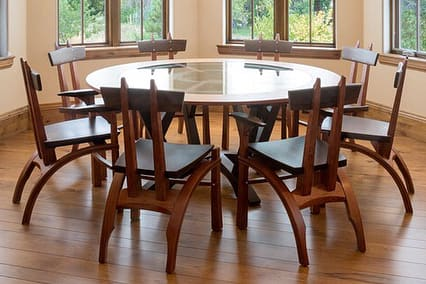 Tables by Brian Hubel seen at Private Residence, Denver - Roundabout Dining Table