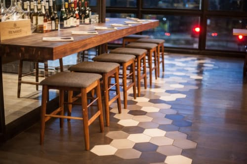 Tiles by Granada Tile seen at Otium, Los Angeles - Hex Cement Tile