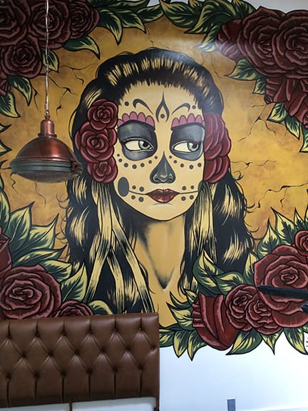 Murals by Matthew James McGowan seen at Papito Hayes, San Francisco - Papito Lady