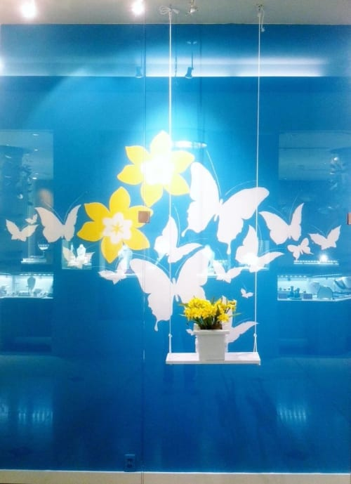 Murals by Christian Toth Art seen at Nova Scotia - Butterflies and Daffodils Mural