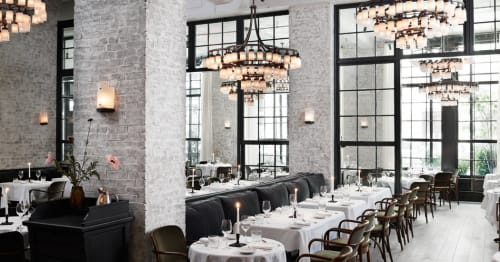Chandeliers by Roman and  Williams seen at Le Coucou, New York - Chandelier